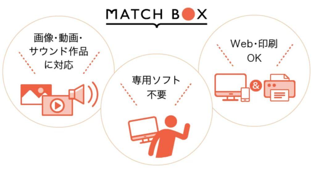 マイナビクリエイターの独自機能MATCHBOX