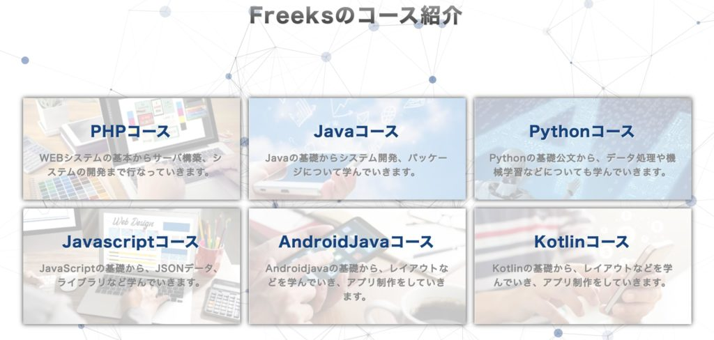 Freeks(フリークス)のコース紹介