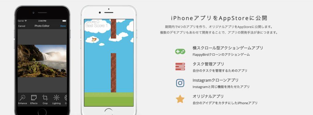 iPhoneアプリ(swift)コースの作成アプリ