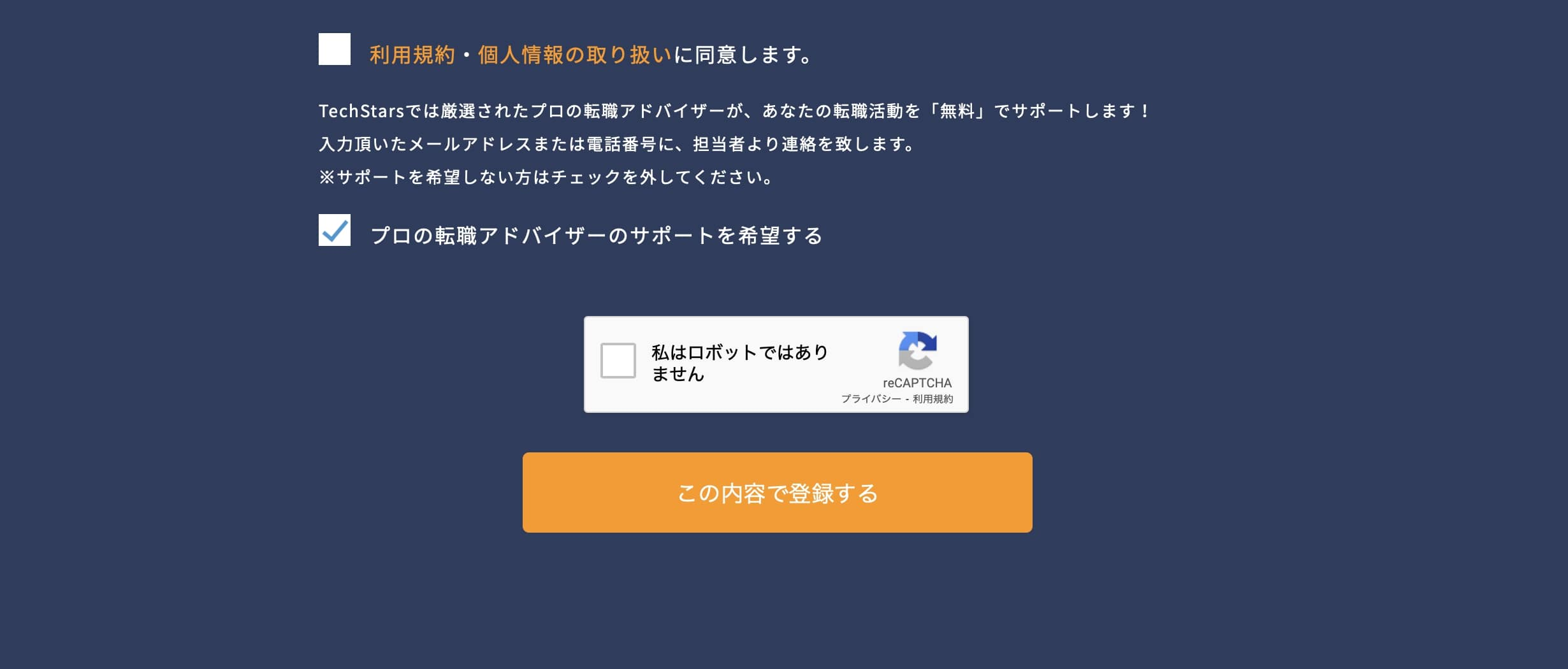 techstarsagentの応募フォームNO2