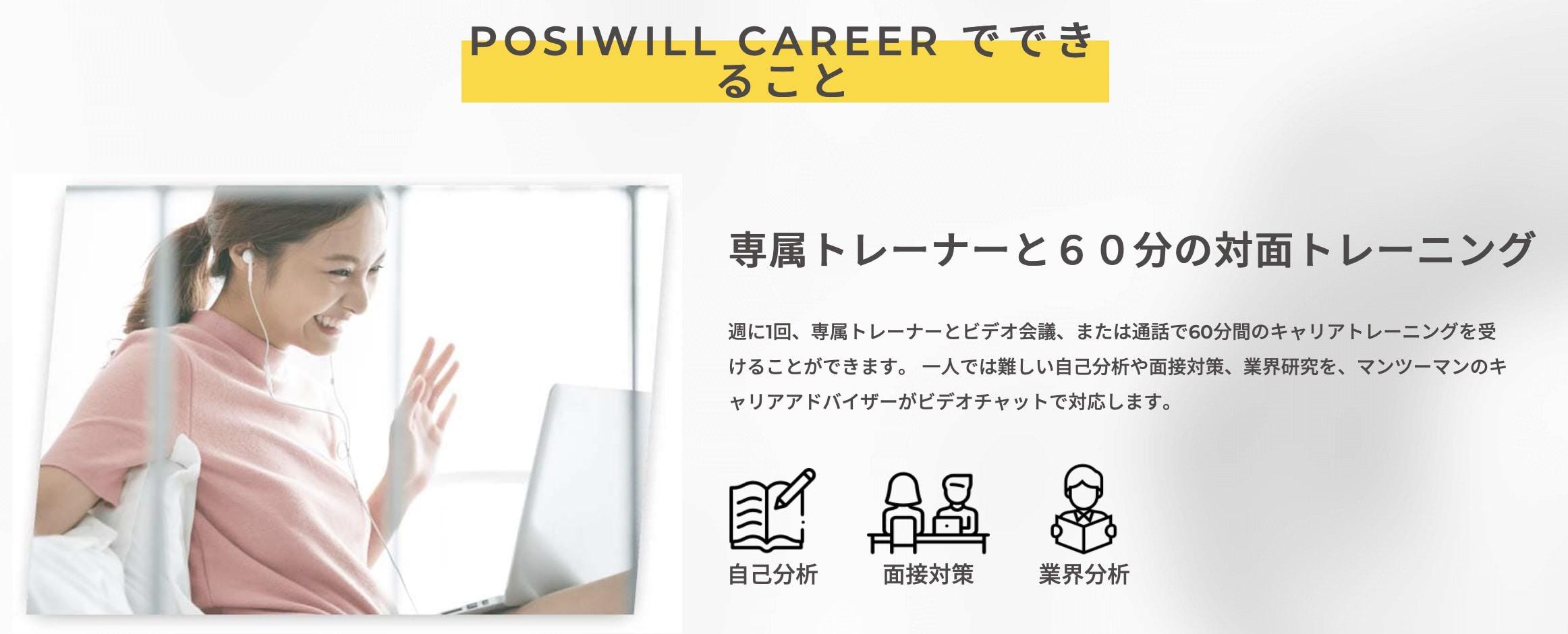 POSIWILL CAREER(旧:ゲキサポ!キャリア)のサービス