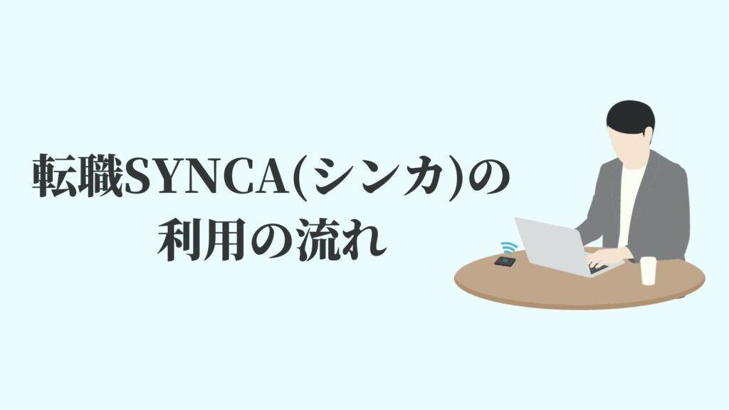 転職SYNCA(シンカ)の利用の流れ